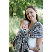LITTLE FROG JACQUARD RING SLING - GREY 