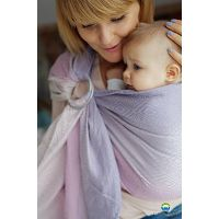 LITTLE FROG JACQUARD RING SLING - LINEN LILAC CUBE - M (2.0m)