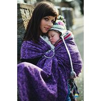 LITTLE FROG JACQUARD RING SLING - PURPLE GLOW - S (1.7m)